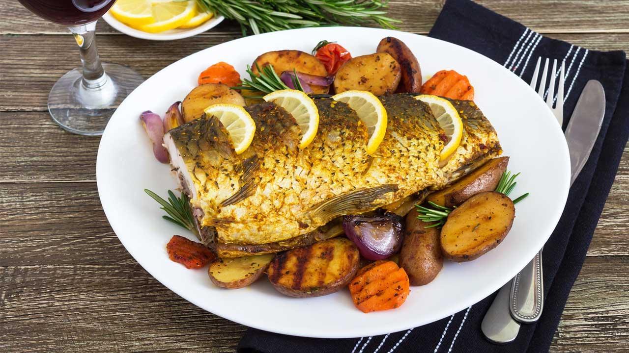pescado con piel al horno