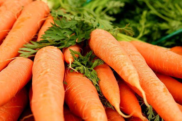 Zanahoria producto de temporada de verano